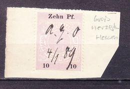 Aktenstueck, Stempelmarke, Hessen 1889 (61541) - Gebührenstempel, Impoststempel