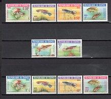 GUINEE N° 177 à 186  NEUFS SANS CHARNIERE COTE 8.00€  POISSON  ANIMAUX - Guinée (1958-...)