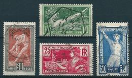 Frankreich 1924  Olympiade  Kpl. Set (4 Werte)  Mi-Nr. 169/72 Gestempelt/used - Frankreich