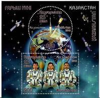 Kazakhstan.2018 Kazcosmos - 25th Ann. S/S Of 2v: 900, 900 - Kazakhstan