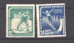 06955  -  Allemagne Démocratique  :  Yv  50-51  **    Sport D'hiver - [6] République Démocratique