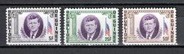 GUINEE N° 187 à 189  NEUFS SANS CHARNIERE COTE 1.70€  PRESIDENT  KENNEDY - Guinée (1958-...)