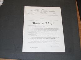LES FANTARES DE DOLHAIN LIMBOURG - 2/6/1968 - FESTIVAL DE MUSIQUE - BULLETIN INSCRIPTION - Programmi