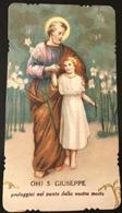 "Antico Santino Holy Card "" OH SAN GIUSEPPE Proteggici Nel Punto Nostra Morte "" - Religione & Esoterismo"