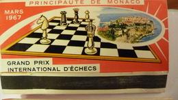 2 Pochettes D'allumettes Principauté De Monaco Grand Prix International D'Echecs - Scatole Di Fiammiferi