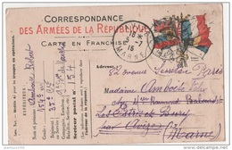 CARTE POSTALE FRANCHISE MILITAIRE ILLUSTREE SP 154 - Marcophilie (Lettres)