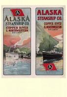 Navigation Postcard Alaska Steamship Co. 1915 - Reproduction - Pubblicitari