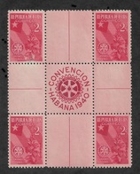 CUBA 1940 Gutter Block Scott # 362,XF MNH**OG (RN-5) - Cuba