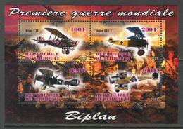 2013 - Avions Biplan De La 1er Guerre Mondiale - BF Neufs // Mnh - Guerre Mondiale (Première)