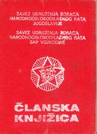 WWII WARRIORS MEMBER CARD  VOJVODINA YUGOSLAVIA - Historical Documents