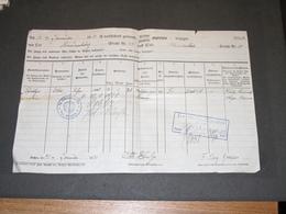 AACHEN - 10/1/1921- POL. BEZIRK. 4. - FAMILIE SCHULGE OTTO  - DE HINDENBURGSTR. A MICHAELSTR. - Historical Documents