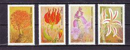 Satz Blumen 1989, Ungebraucht (61545) - Zambie (1965-...)