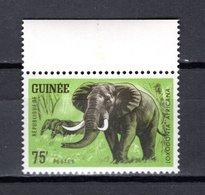 GUINEE N° 205  NEUF SANS CHARNIERE COTE 2.00€  ANIMAUX ELEPHANT - Guinée (1958-...)