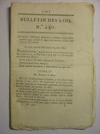 BULLETIN DES LOIS 1809 - UNIVERSITES - CONSEILS PRUD'HOMMES - EXCLUSION ELEVES LYCEE - BEC HELLOUIN - BINAS - BELGIQUE - Décrets & Lois