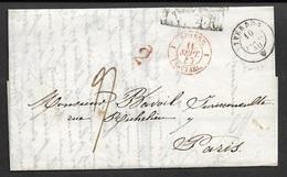 1840 - LAC - YVERDON A PARIS - CACHET FRONTIÈRE - Suisse