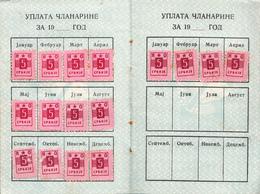NARODNA OMLADINA YUGOSLAVIA 1955 - Historical Documents