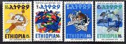 ETP187 - ETIOPIA 1974 ,  Yvert  N. 717/720 *** MNH  UPU - Etiopia