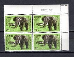 GUINEE N° 205  BLOC DE QUATRE  NEUF SANS CHARNIERE COTE 8.00€  ANIMAUX ELEPHANT - Guinée (1958-...)