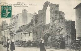 CPA 29 Finistère Quimperlé Ruines De L'Ancienne Eglise De Saint St Colomban 1918 Attelage Costume - Quimperlé