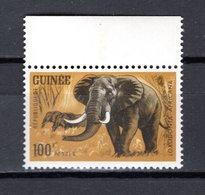 GUINEE N° 206  NEUF SANS CHARNIERE COTE 3.00€  ANIMAUX ELEPHANT - Guinée (1958-...)