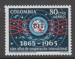 TIMBRE NEUF DE COLOMBIE - CENTENAIRE DE L'UNION INTERNATIONALE DES TELECOMMUNICATIONS N° Y&T PA 447 - Télécom