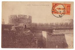 Maroc. CPSM. Safi.  Fortifications Du Château De Mer.Cachets. Timbre. 1926. - Altri
