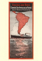 Navigation Postcard C.ia Sud Americana De Vapores 1929 - Reproduction - Pubblicitari