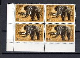 GUINEE N° 206  BLOC DE QUATRE  NEUF SANS CHARNIERE COTE 12.00€  ANIMAUX ELEPHANT - Guinée (1958-...)
