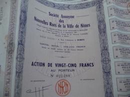 Action 25 Francs X6 Nouvelles Rue De Nîmes - Actions & Titres