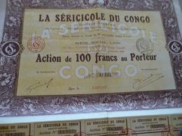 Action 100 Francs La Séricole Du Congo Bangui Lyon - Afrique