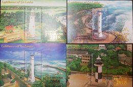 O) 2018 SRI LANKA, LIGHTHOUSE GALBOKKA-PEDRO-OLUVIL-BARBERYN, THAILAND 2018 WORLD STAMP EXHIBITION-   LANDSCAPE-ARCHITEC - Sri Lanka (Ceylon) (1948-...)
