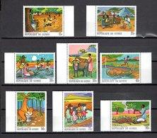 GUINEE N° 355 à 362   NEUFS SANS CHARNIERE COTE 5.00€ CONTES ET LEGENDES AFRICAINES  ANIMAUX - Guinée (1958-...)