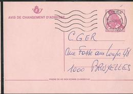 Doc. De CINEY (5590) Du 17/12/92    Chgt D'adresse Buzin - Postmark Collection