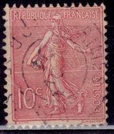"""France, 1903, Sower"""", 10c, Sc#138, Used - 1903-60 Sower - Ligned"""