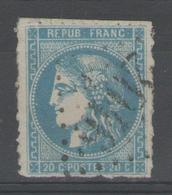 """N°46B Oblitéré """"percé En Lignes"""" - 1870 Bordeaux Printing"""