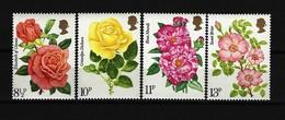 GROSSBRITANNIEN - Mi-Nr. 711 - 714 Zuchtrosen Postfrisch - Rosen