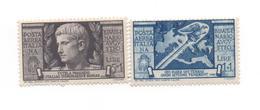 Italie  P.A - 1937 -N+ Empereur Auguste -  2 Timbres ( 1 Et 5 Lires ) Yvert N°10-106 -   Voir Scans - 1900-44 Victor Emmanuel III