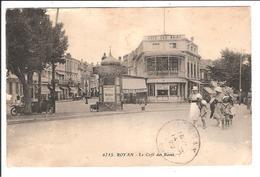 ROYAN. Cpa   - Le Café Des Bains (scans Recto-verso) - Royan