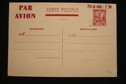 Tunisie Entier CP Avion 70c Surchargé Prix Vente 1f90 Neuf - Tunisie (1888-1955)