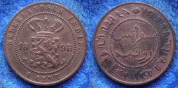 NETHERLANDS EAST INDIES - 1 Cent 1898 KM# 307.2 Wihelmina - Edelweiss Coins - Dutch East Indies