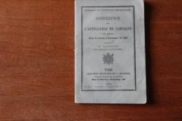 L'artillerie D Ecampagne   Guerre De 1866  Manuel - Documents