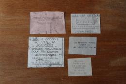 5 Tracts Clandestin Appel à La Resistance   D'epoque - 1939-45