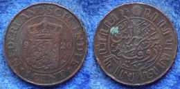 NETHERLANDS EAST INDIES - 1 Cent 1920 KM# 315 Wihelmina - Edelweiss Coins - Dutch East Indies