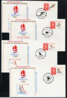 FRANCE 1992, JO Albertville, 11 Enveloppes Premier Jour, Disciplines Sportives Et Logo / FDC - Hiver 1992: Albertville