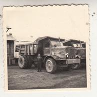 Camions-benne - Photo Format 6 X 6 Cm - Automobiles