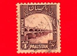 PAKISTAN - Usato - 1948 - Motivi Del Paese - Diga - Lloyd Barrage (ora Sukkur Barrage) - 4 - Pakistan