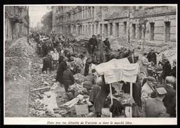 1946  --  POLOGNE  MARCHE LIBRE DANS UNE RUE DEVASTEE DE VARSOVIE   3Q142 - Vieux Papiers