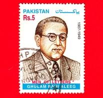 PAKISTAN - Usato - 1999 - 50 Anni Della Morte Di Ghulam Bari Aleeg, Giornalista - Rs 5 - Pakistan
