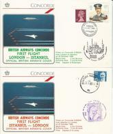 """Enveloppes """"1er Vol Concorde"""" - Sonstige"""
