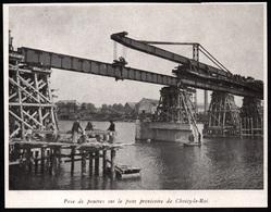 1946  --  POSE DE POUTRES SUR LE PONT PROVISOIRE DE CHOISY LE ROI   3Q143 - Vieux Papiers